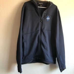 Men's Black Diamond Full Zip Jacket